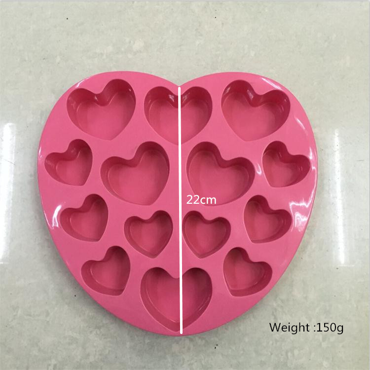 3D <strong>silicone</strong> recycle heart shape mousse cake mold