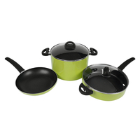 5 piece non stick cookware set 3003 aluminum alloy kitchenware sauce pan stockpot fry pan HC-CS001