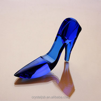 Crystal glass Wedding Shoes wholesale handmade bridal shoes for wedding decoration gifts