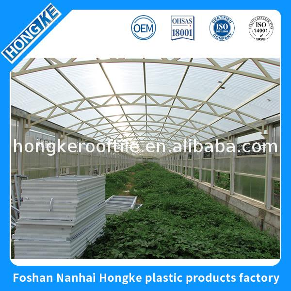 100% good quality transparent corrugated upvc roof tile