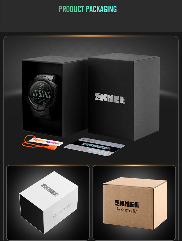 SKMEI branded watch 5atm japan movement clock smart  sports watches men