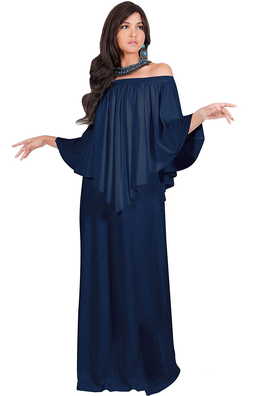 a9a922b832a Get Quotations · KOH KOH Womens Long Strapless Shoulderless Flattering Cocktail  Gown Maxi Dress Maxi Dress