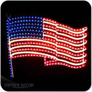 America independence day street led flag lights