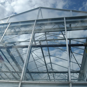 mult span used commercial glass greenhouse for sale