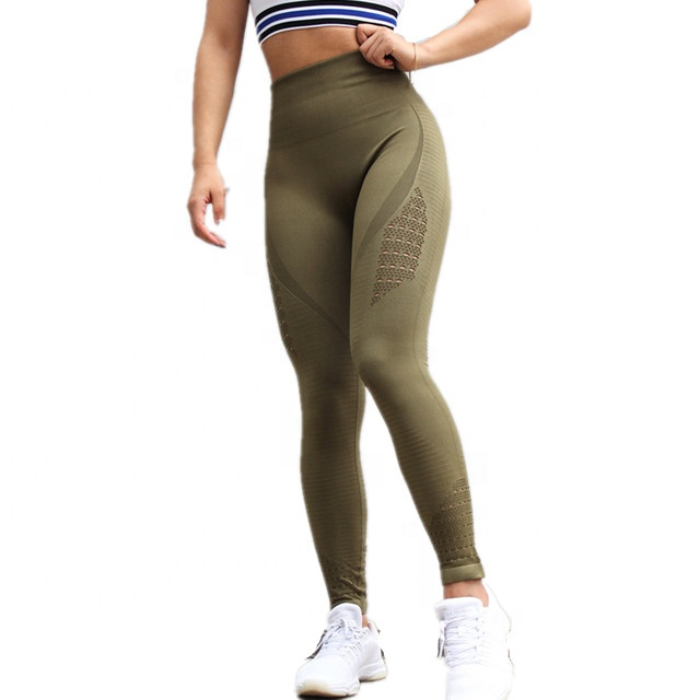 6a4e13015090d Cute Cheap Shaping Tight GYM Yoga Pants, Perfect Long Workout Legging with  Holes
