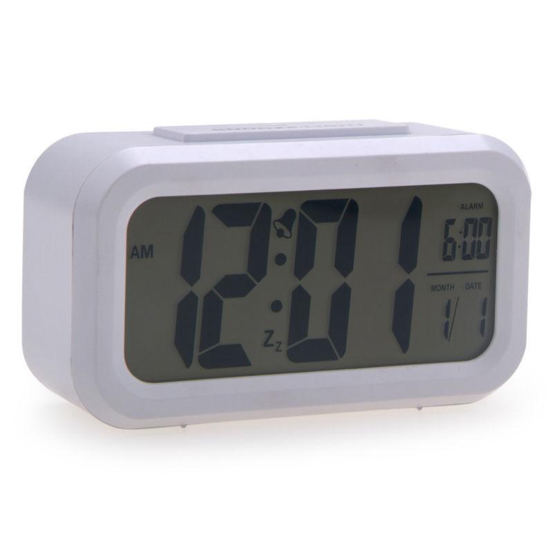 Gran pantalla digital reloj de alarma y snooze noche luz for Reloj digital de mesa