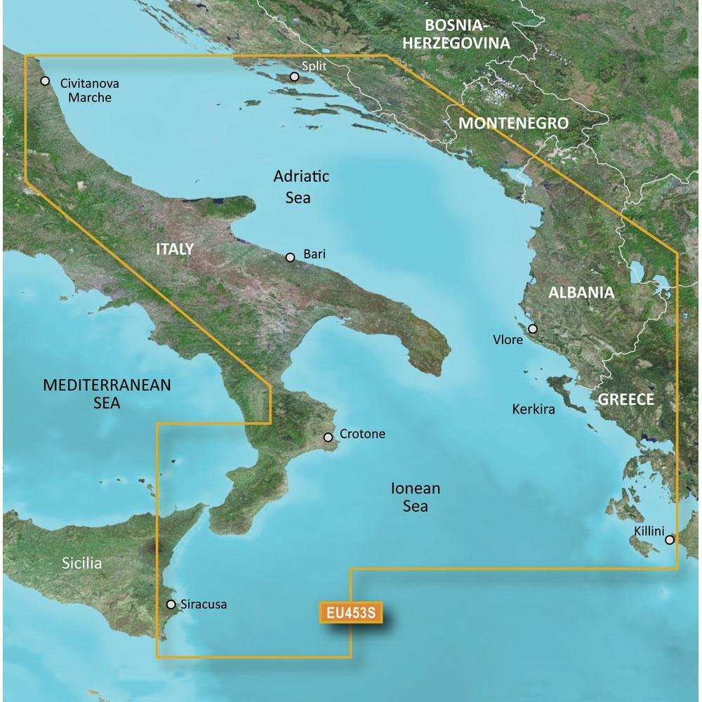 Garmin Bluechart G2 HXEU014R Micro SD /& SD Italy Adriatic Sea