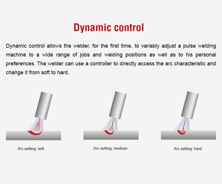 In alluminio a doppia unità di impulso saldatore mig 350 raffreddato ad acqua PROMIG-350SYN DPluse