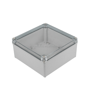 200*200*95mm ip65 plastic waterproof tool boxes with clear lid