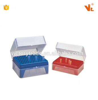 V-KJ814 High quality empty pp pipette tip box with lid pipet tip rack
