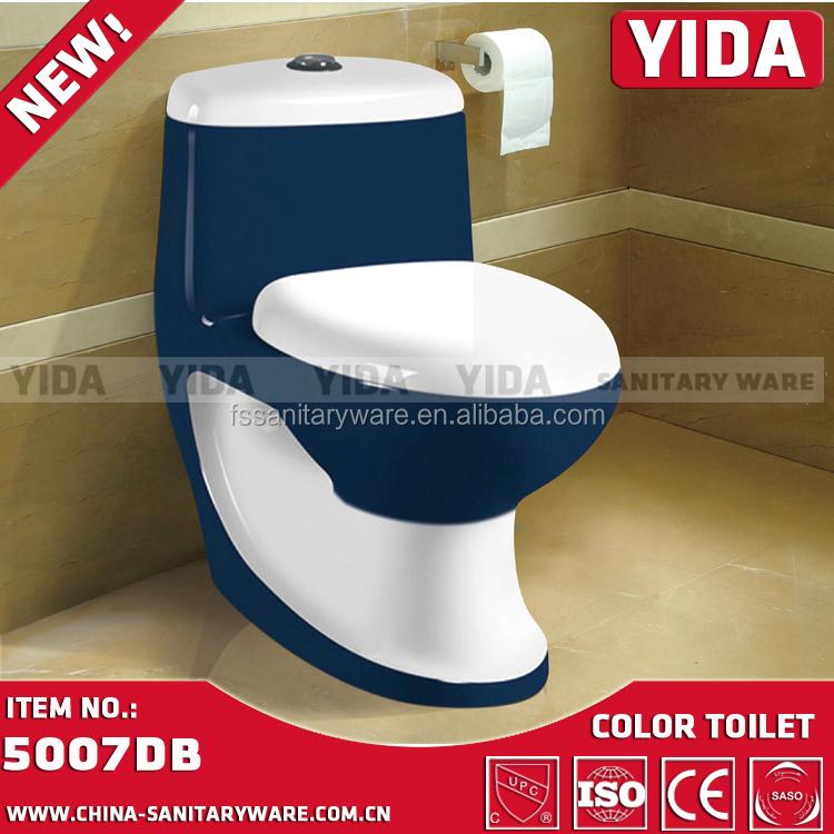 لون السيراميك المرحاض أحواض الحمام الأدوات الصحية أصفر الأحمر