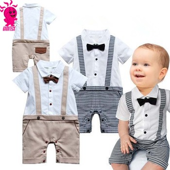 e21779846 Baby Boy Gentleman Formal Suits Little Boys T-shirt+Suspender Trousers  Overall Outfits Autumn