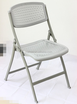 new design plastic folding chair mesh design office use