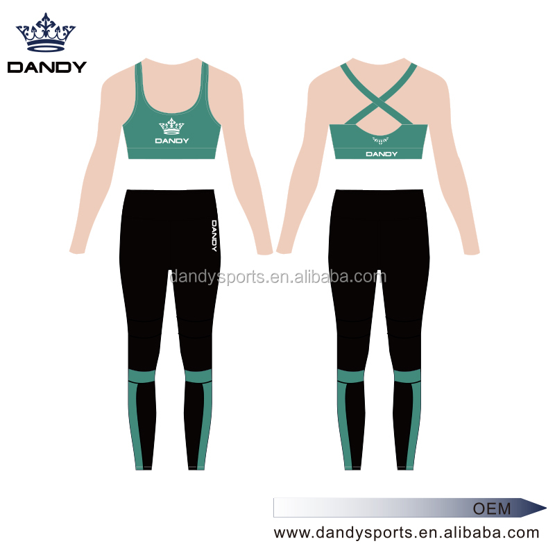 wholesale alibaba OEM service dry fit Women wholesale custom yoga wear,sports bra and yoga pants set
