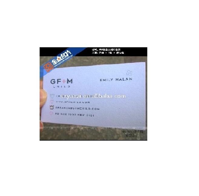 कस्टम पूर्ण या पैनटोन रंग स्क्रीन प्रिंटिंग उभरा गुणवत्ता व्यापार कार्ड