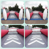 Hot sale inflatable skittle alley for bowling game