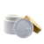 Empty recycled cosmetic packing 15g 30g 50g 100g 200g 250g white Plastic cream jar with bamboo lid