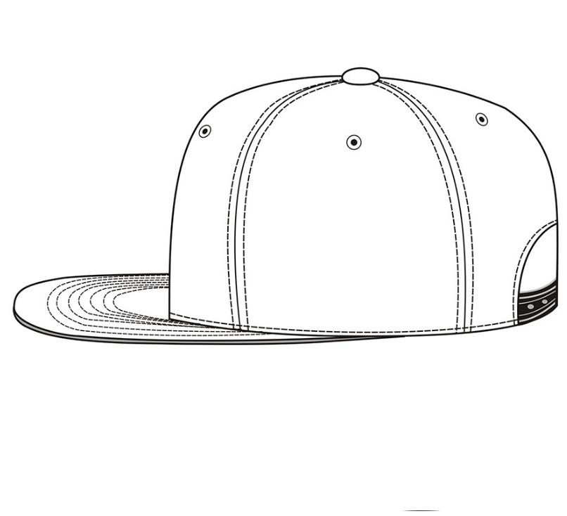 Customize Snapback Hat Cap Template Flat Brim Baseball Cap ...