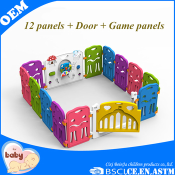 Plastic Safety Game Baby Fence Baby Playpen Game Indoor Playground ...
