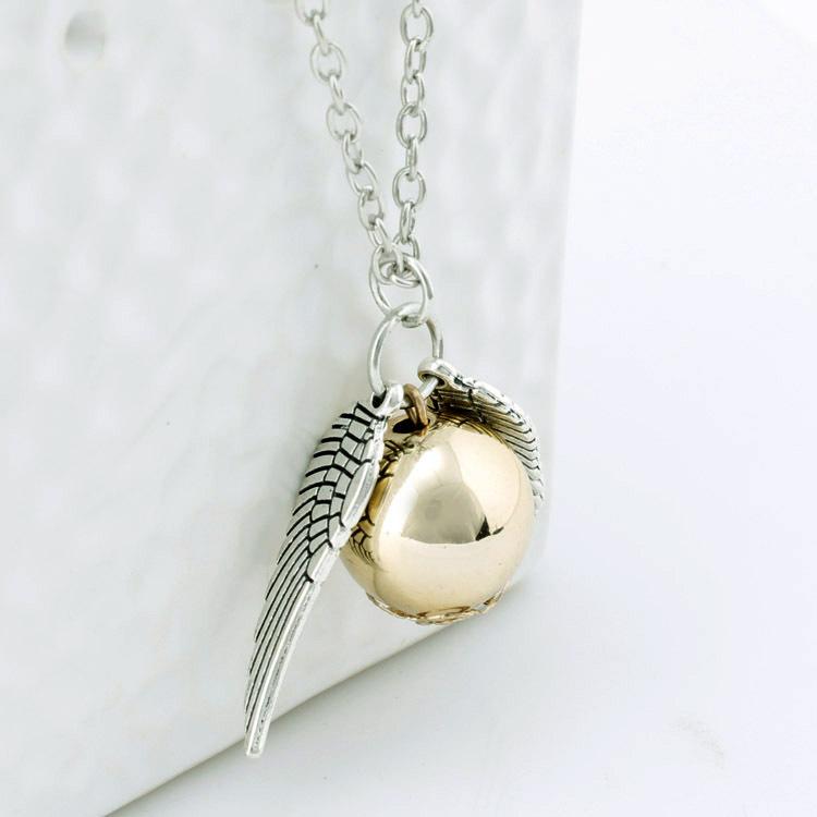e842d8223b4b Magia al por mayor collar con Alas de Oro de oro soplón potter collar