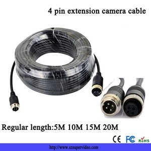 15M Backup camera system 4-pin extension cable