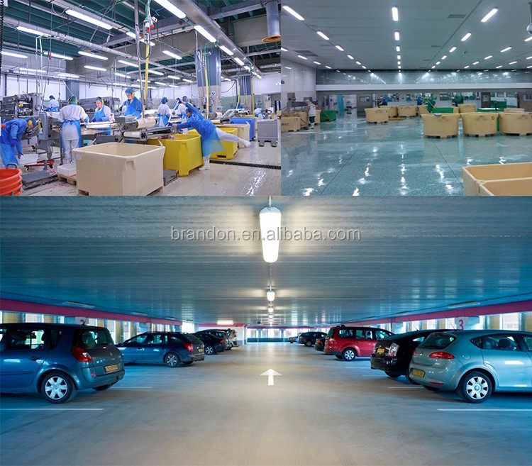 High quality PC vapor tight fixture strip lighting mounting bracket tube led waterproof light