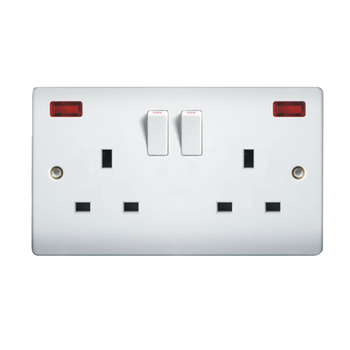 220v Outlet Types >> Uk Standard Double 13a 220v Wall Outlet Socket With Neon Buy Wall Outlet Socket Product On Alibaba Com