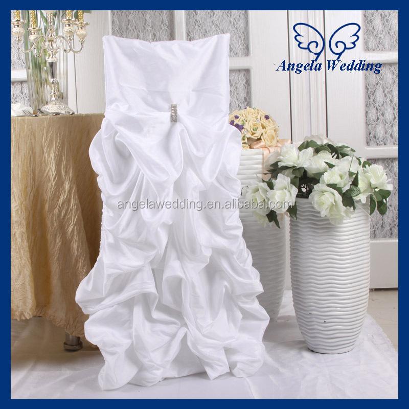 Ch003h Wholesale Fancy 2017 Cheap Ruffled Wedding Gathered White Stripe Chair
