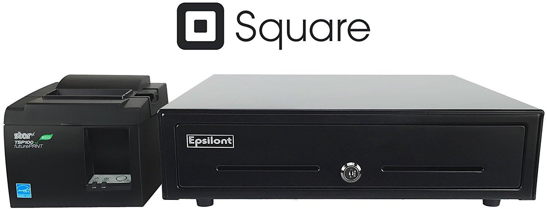 SQUARE POS HARDWARE BUNDLE   Star Micronics TSP143IIU 39464011 USB Printer  And Epsilont Cash Drawer 16