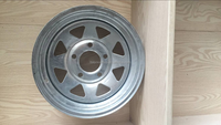 GALVANIZED TRAILER WHEEL boat trailer rims camper trailer wheels 185R14LT tyre and 14*6inch wheel assembly