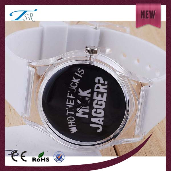 Fashion young cheap plastic watch wholesale watch with plastic case,strap and lens