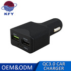 hot sell portable travel 3 port 2.4A usb travel charger qc3.0 portable mobile phone charger in car