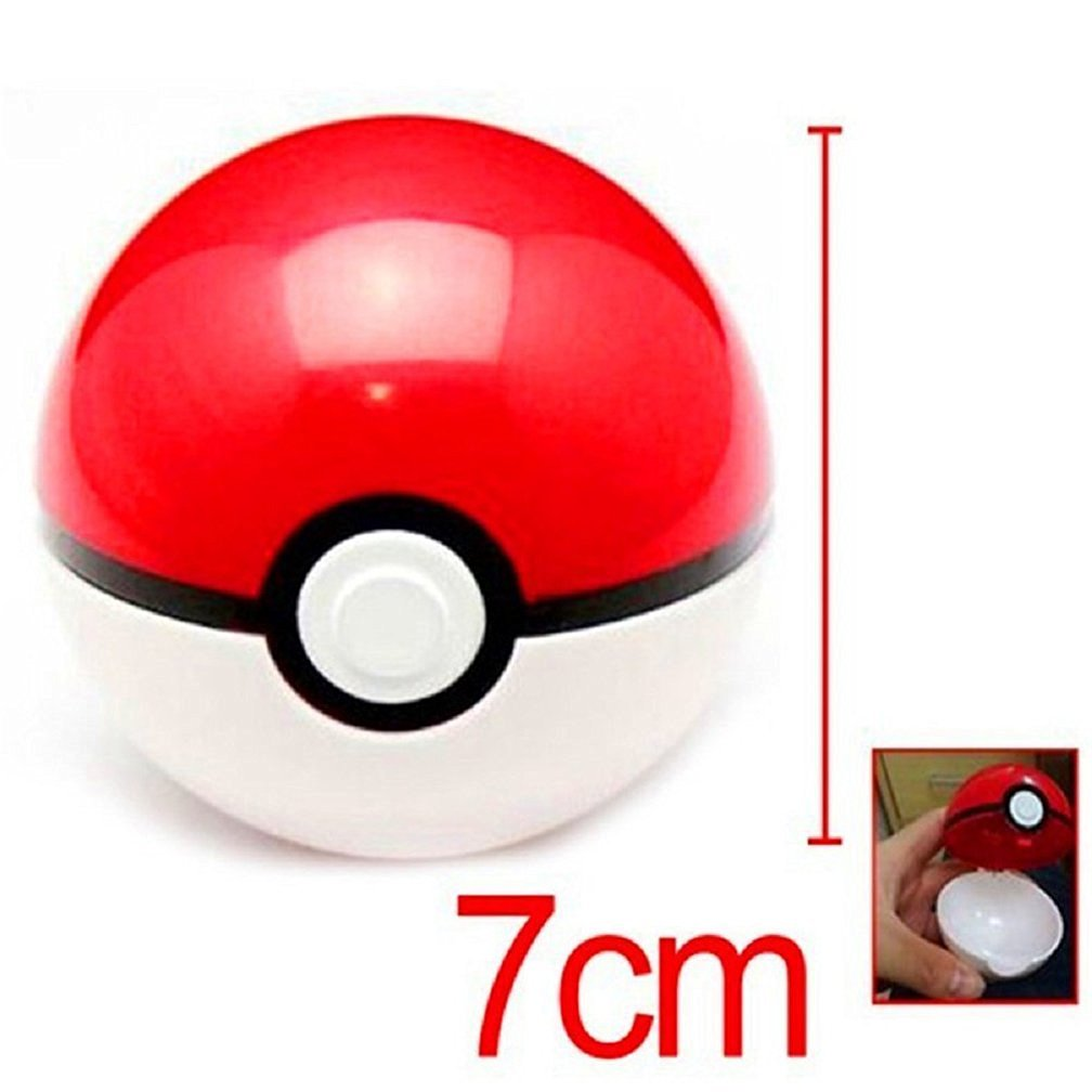 Aikar 7cm Poke Ball Pokemon Ball + Anime Pokemon / Pikachu Cosplay Pop-up Action Figures Pokeball Toys