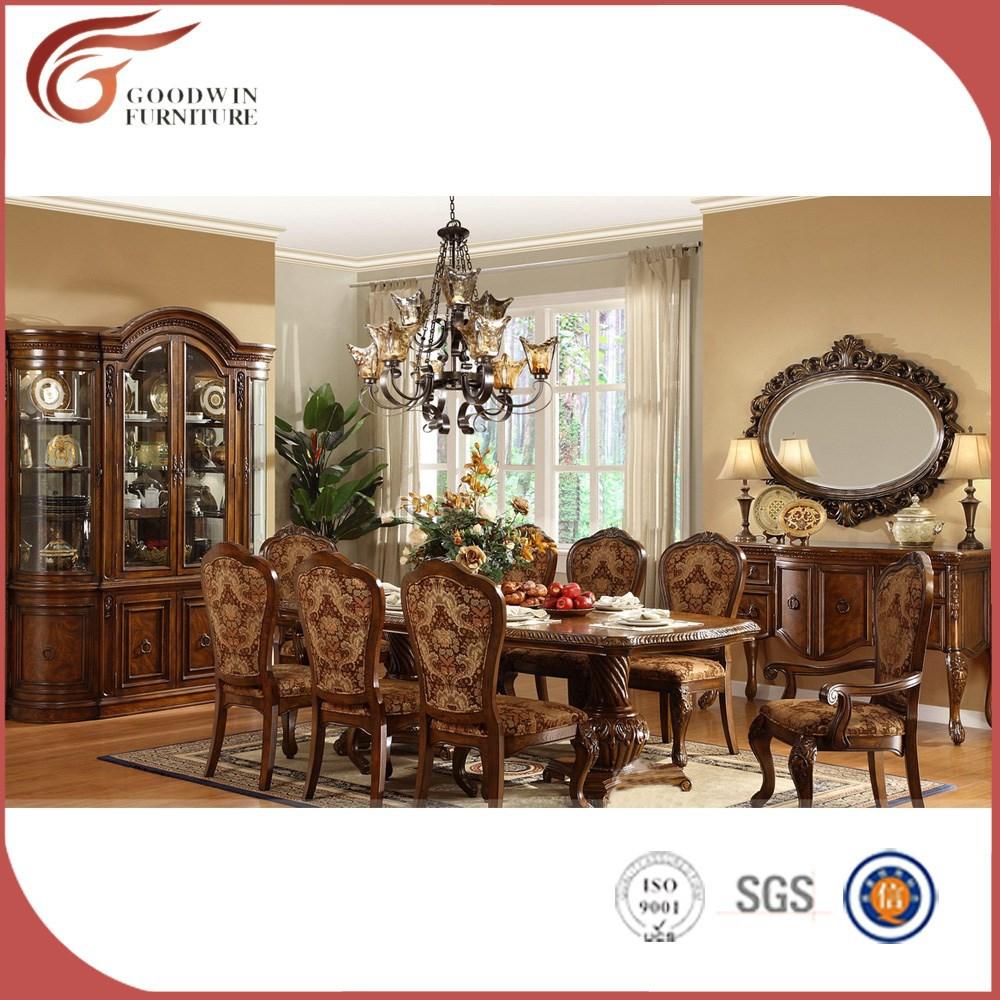 Muebles De Madera De Teca Comedor Set Madera De Teca Antigua Mesa  # Muebles Teca Interior