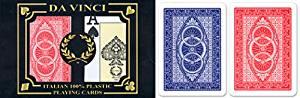 24 sets (48 decks) Da Vinci Ruote, Italian 100% Plastic Playing Cards, Poker Size Jumbo Index
