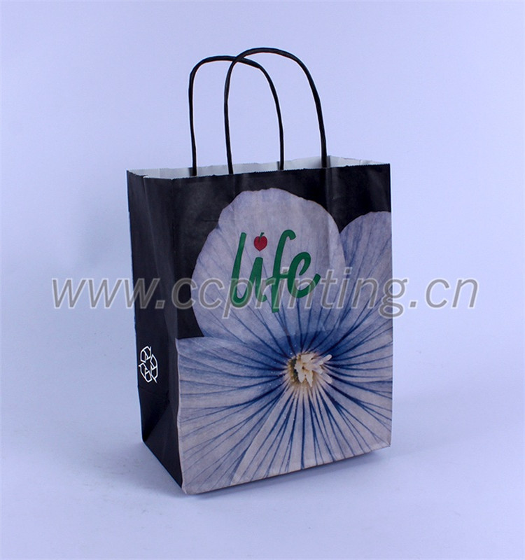 Professional production white kraft gift paper bag