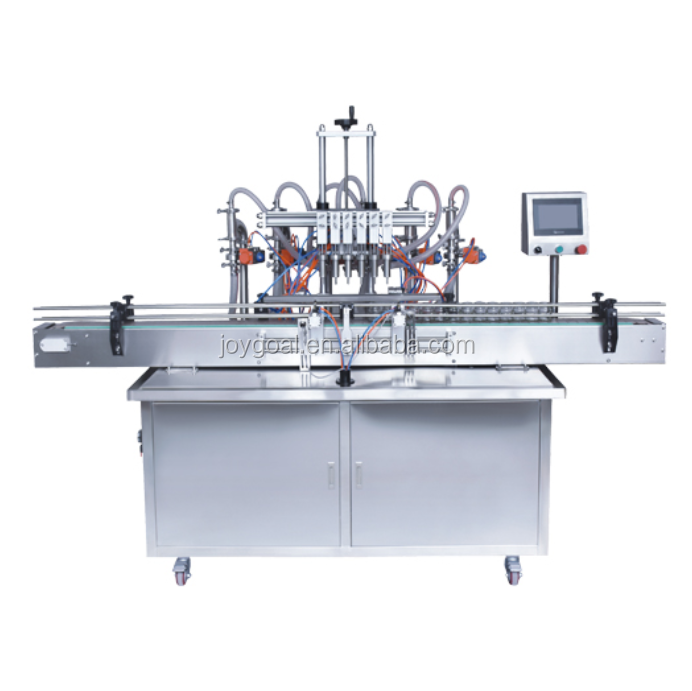 Automatic production line for sauce bottle filling capping and labeling machine
