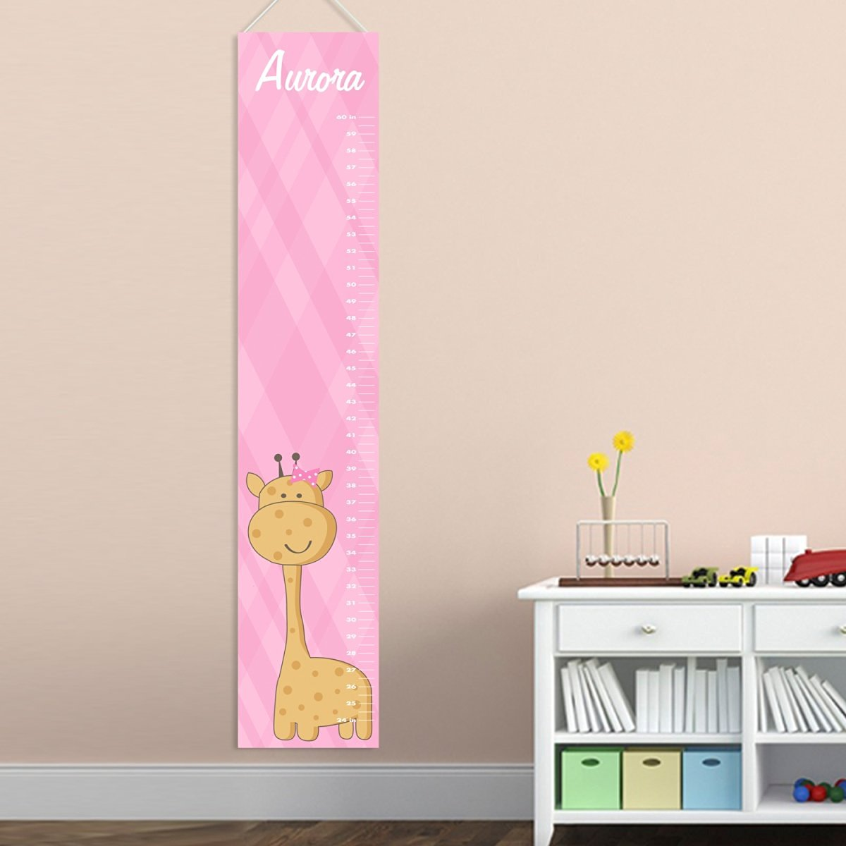 Cheap baby height growth find baby height growth deals on line at get quotations personalized baby girl giraffe growth chart personalized height charts for girls nvjuhfo Images