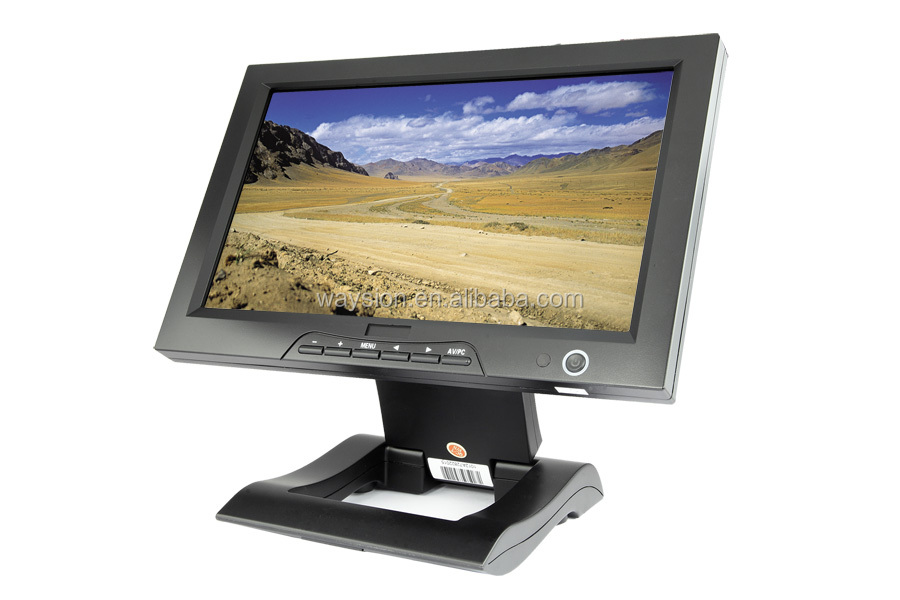 10.1''POS system Resistive Touchscreen Monitor with VGA, D-SUB,RGB,DVI inputs