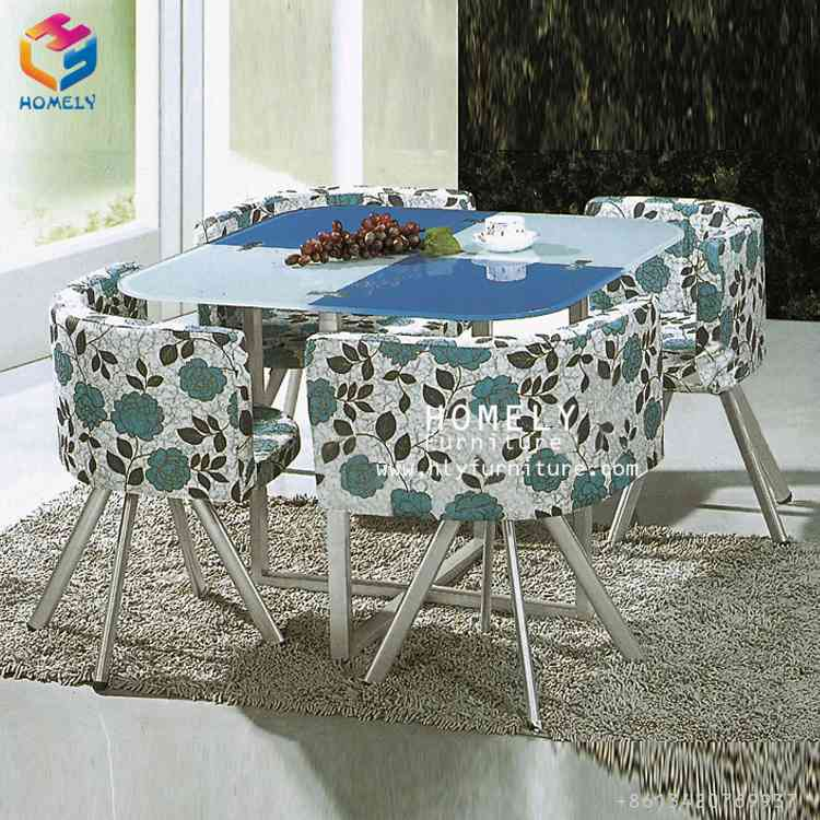 2016 popular 12mm thick tempered glass dining table set