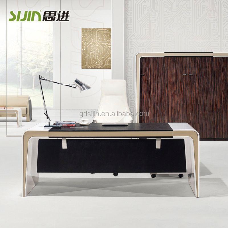 Moderne hoogglans witte manager bureau luxe kantoor tafel kantoortafels product id 60275537121 - Moderne kantoorbureaus ...
