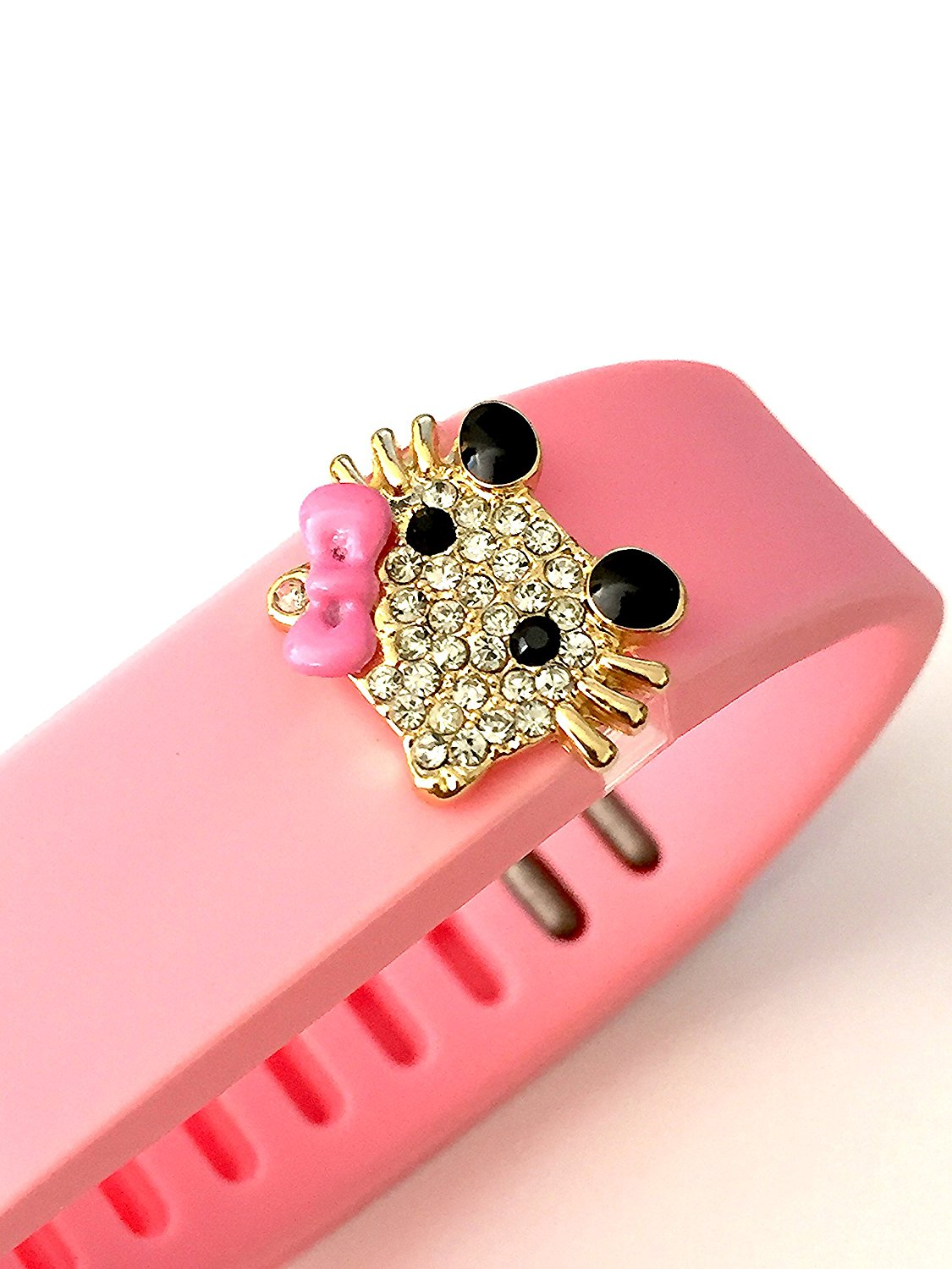 23c6b80d5 Get Quotations · BSI 1pc Large Baby Pink Color Band with Jewelry Crystals  Decoration /Hello Kitty with Crystals