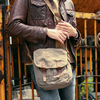 Hot selling canvas bag material shoulder bag with ajustable long strap for men and women