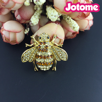 bee Lapel Pin Brooch (Bumblebee Pin), Rhinestone Animal Insect Brooch Jewelry Cute Alloy Bee Brooch Pins Accessories