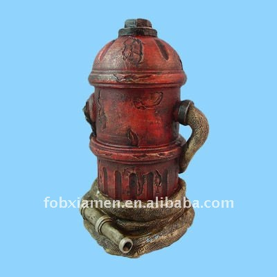 Resin decorative fire hydrant statue