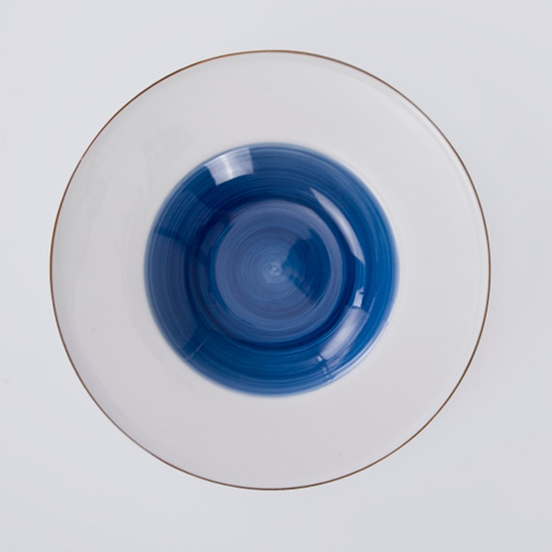 product-moroccan wholesale ceramic plates blue pasta soup plate porcelain-Two Eight-img