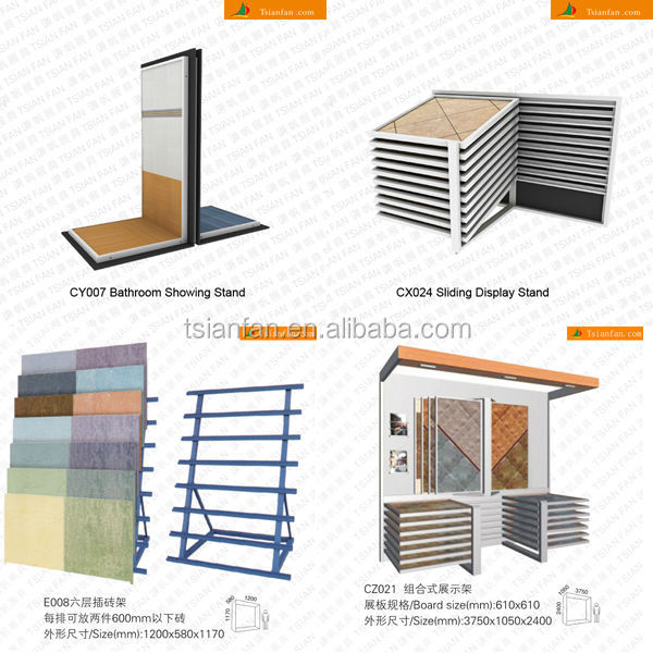 CF114 Ceramic tile fair booth mdf stands / page turning type rack
