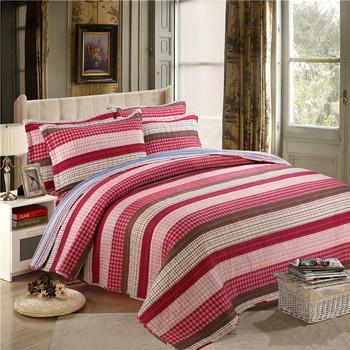 100% Stripe Printed Polyester Bedsheet Microfiber Bed Sheets