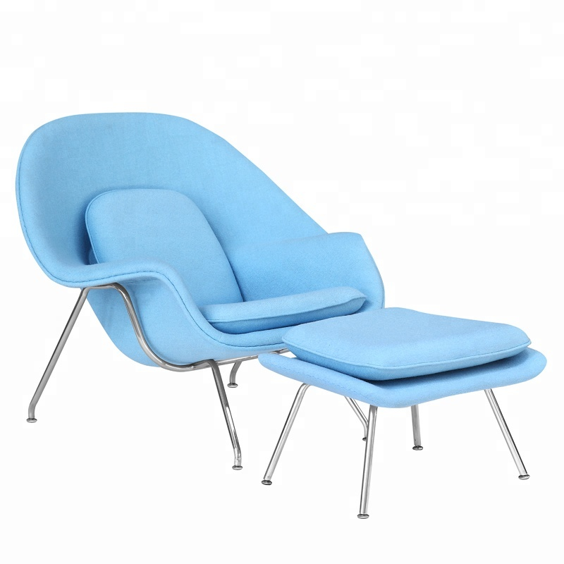 GroBartig Mid Century Moderne Möbel Büro Lounge Stuhl Mit Fußstütze