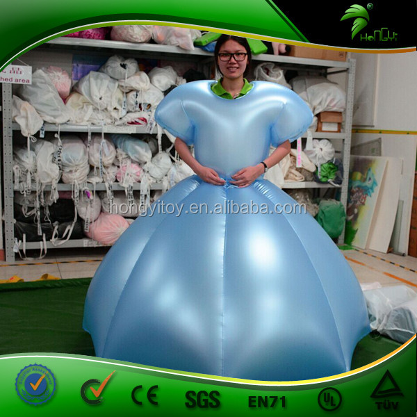 5ee6b7dc0 Inflatable Princess Dress Advertising Cosplay Costume Cartoon Women Sexy  PVC Body Inflation Suit